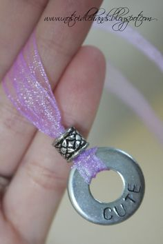 Fun and easy project for my YW girls to make....(just made out of a washer and you stamp whatever wording on it)