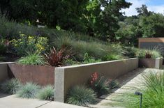 Corten Steel Planters with Hot Tub Spa