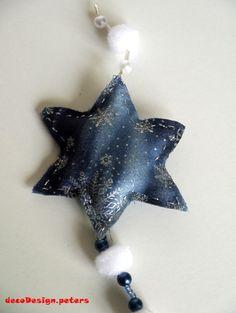 Blauer Stern - Baumschmuck von decodesign.peters auf DaWanda.com