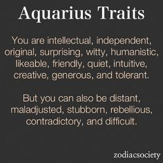 Aquarius Zodiac Sign Characteristics Related Keywords ...