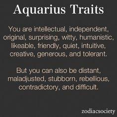 Aquarius Zodiac Sign Characteristics Related Keywords ...