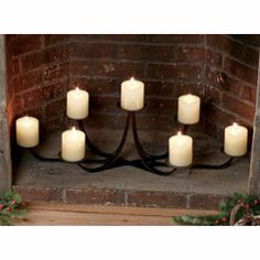 Pumpkin Lanterns Fireplace candle holder and Fireplace candles