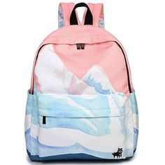 dbe4b0561a Lovely Snow Mountain Backpack. Back to school supplies highschool. School  outfits for teen girls