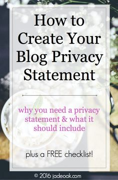 Does your blog have a privacy statement? I'm guessing if you're here, it probably doesn't, but you're thinking that it should. And I'm here to tell you – yep, it should! Let's discuss what a ...