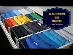 COMO ORGANIZAR AS CAMISETAS NA GAVETA E GANHAR MAIS ESPAÇOS | Organize sem Frescuras! - YouTube