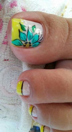 Pedicure Designs, Pedicure Nail Art, Toe Nail Designs, Toe Nail Art, Toe Nails, Cute Pedicures, Nail Designs Spring, Gorgeous Feet, Spring Nails