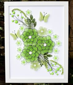 Ayani art: Quilling Green and White