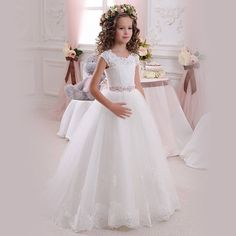 Cheap communion dresses, Buy Quality first communion dresses directly from China flower girl dresses Suppliers: Real Image Ivory White Lace Flower Girls Dresses Ball Gown Floor Length Girls First Communion Dress Princess Dress Old 2017 Girls First Communion Dresses, Holy Communion Dresses, Girls Pageant Dresses, Ball Dresses, Ball Gowns, Dresses 2016, Dresses Online, Pageant Gowns, White Dresses For Girls