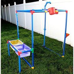 Buckets of Fun Rpbof 6 in 1 Backyard Waterpark Water Toys Sand Outdoor Hobbies for sale online Backyard Water Parks, Large Backyard, Backyard For Kids, Diy For Kids, Backyard Ideas, Diy Backyard Projects, Garden Ideas, Backyard Designs, Pergola Designs