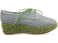 Veletto Espadrille Lace Up in Blue Green Combo at Solestruck.com
