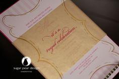 princess birthday party invitation | www.sugarpeardesign.com | © 2012 Sugar Pear Design LLC