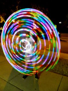 Miss S whipman doing her thing with the ALL LIGHT led hoop , find it on www.lightupandjuggle.com