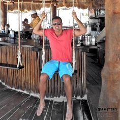 #TBT to sitting on a swing drinking beer and tequila in Mexico.  #Kommitted #Corona #DonJulio #Mexico #SecretsMaroma