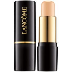 Lancome Teint Idole Ultra Makeup Stick ($42) ❤ liked on Polyvore featuring beauty products, makeup, face makeup, foundation, beauty, lancôme, oil free foundation, lancome face makeup, long wear foundation and sensitive skin foundation