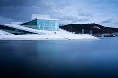 Opera House in Oslo, Norway. Climbing/walking on the roof is fun for tourists and locals.
