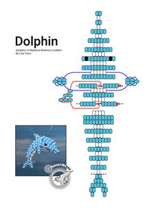 beaded animals Beaded Dolphin Pattern - Hermit Werds - Marilynes dolphin pattern with my additions to the fin and back. Pony Bead Projects, Pony Bead Crafts, Seed Bead Projects, Beaded Crafts, Beaded Ornaments, Crafts With Pony Beads, Ornament Crafts, Christmas Ornament, Pony Bead Patterns