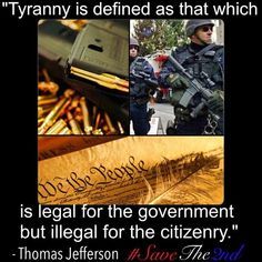 Tyranny as defined by Thomas Jefferson. - http://www.sonsoflibertytees.com/patriotblog/tyranny-as-defined-by-thomas-jefferson/?utm_source=PNutm_medium=Pinterestutm_campaign=SNAP%2Bfrom%2BSons+of+Liberty+Tees%3A+A+Liberty+and+Patriot+Blog  www.SonsOfLibertyTees.com Liberty  Patriotic Threads