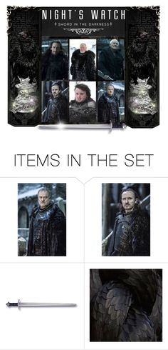 """""""Men of the Night's Watch"""" by annette-heathen ❤ liked on Polyvore featuring art"""