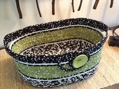 Fabric coiled basket by BjM.