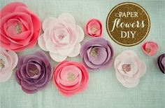 How to make paper roses ^ Paper Flowers DIY How To Make Paper Flowers, Paper Flowers Wedding, Paper Flowers Diy, Handmade Flowers, Flower Crafts, Fabric Flowers, Wedding Paper, Flower Diy, Wall Flowers
