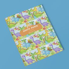 For all the dinosaur loving kids out there. Graph Paper: 1/2 Inch Grid Paper Notebook for Kids #notebooksforkids #dinosaurs #schoolbooks #1/2inchgraphpaper Graph Paper Notebook, Bullet Journal Inspiration, Dinosaurs, Grid, Homeschool, Make It Yourself, Projects, Fun, Log Projects