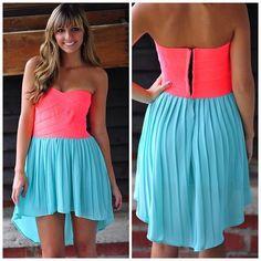 vestido neon
