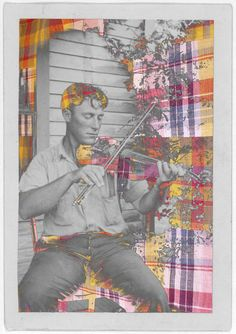 FIDDLE PLAYER, CRAWFORDVILLE, LOUISIANA-- THE PATCHWORK OF HISTORY, a visual art exhibit and installation by Banks Pappas @ The Gadsden, Charleston, SC November 2012 http://www.bankspappas.com/the-patchwork-of-history.html#