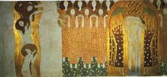 Gustav Klimt. 1902, The Longing for Happiness Finds Repose in Poetry. Secession Palace, Vienna