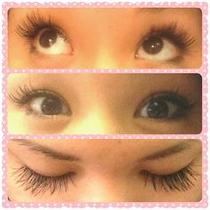 My Asian friend got her lashes done. Make them long! Eyelash extensions.