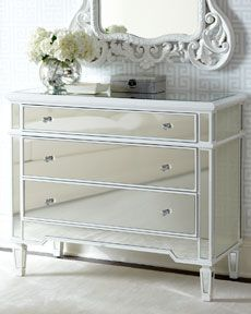 """Horchow """"Elsby"""" Mirrored Chest for side tables"""