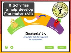Smart Apps For Special Needs: Featured App: Dexteria Jr. reinforces skills important for prewriting as well as fine motor