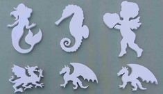 Scroll Saw Practice Mdf in Acrylic White Paint