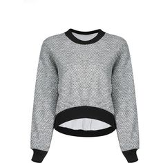 Yoins Cropped Sweatshirt in Grey ($25) ❤ liked on Polyvore featuring tops, hoodies, sweatshirts, grey, shirts & tops, grey sweatshirt, polyester sweatshirt, boat neck shirt, boatneck tops and boat neck sweatshirt