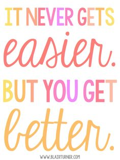 It Never Gets Easier-