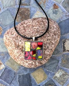 Mosaic Pendant on Etsy by RunningBearDesign