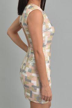 Multi-Color Sequin Dress - Whats New | Maria Morena Wholesale