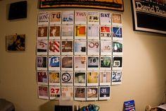 Home made wall calendar. DIY!