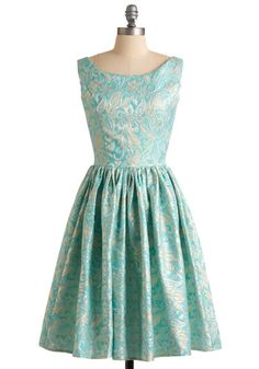 Go for Brocade Dress. When you get dressed up, you really pull out all of the stops! #blue #wedding #modcloth