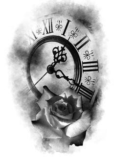 Tiger Tattoo Design, Clock Tattoo Design, Lion Tattoo Sleeves, Sleeve Tattoos, Cool Forearm Tattoos, Arm Band Tattoo, Mago Tattoo, Clock Tattoo Sleeve, Compass And Map Tattoo