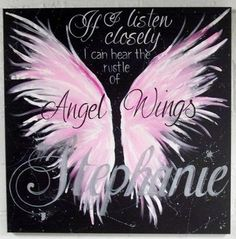 3' x 3' Angel wing memorial painting on canvas