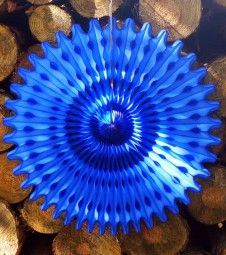 Papierfächer - 66 cm - dunkelblau