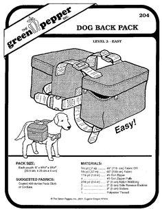 Dog Backpack Pattern …