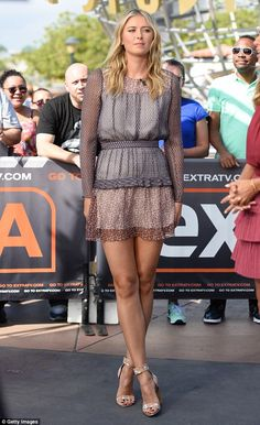 kmhouseindia: Maria Sharapova promotes her new venture on American TV on Wednesday Sep 16,2015