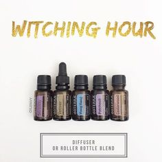 If you have little ones I don't have to tell you about the witching hour. Here are my tried and true solutions to help your kids (and you) survive that crazy hour before bedtime. Blend in a 10ml roller bottle the following: 2 drops Vetiver 2 drops Cedarwood 2 drops Patchouli 2 drops Serenity 3 drops Ylang Ylang Top with FCO In a diffuser I use 1-2 drops of each.