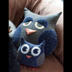 Owls #sewing #toys - I made these for my little cousins for Christmas 2010 by j.j. martyn, via Flickr