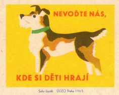 Czech matchbox label, 1965