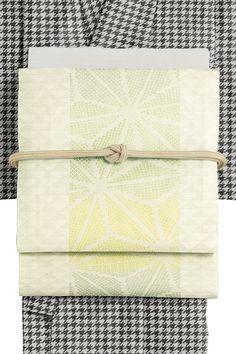 京袋帯 オフホワイト×薄グリーン系 仕立上り | きもの都粋