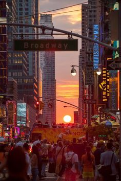Manhattan Henge: twice a year....don't miss it! Be there or be square!