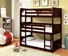 Triple Stacked Bunk Bed
