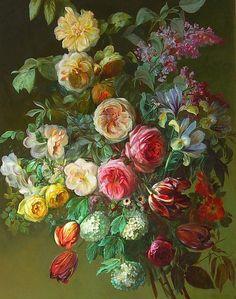 "stilllifequickheart: "" Charles de Haspe Summer Flowers 19th century Via: All things Nancy Loves"